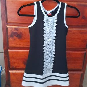Bonniejean girls black white Sleeveless dress